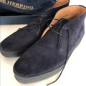 Other - Herring Mustang Desert Boots Navy Suede.